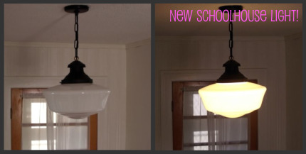 Making A Home My New Schoolhouse Light Fixture Currykay
